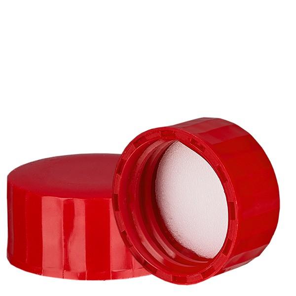 Schraubverschluss rot mit PE Einlage, S27x3