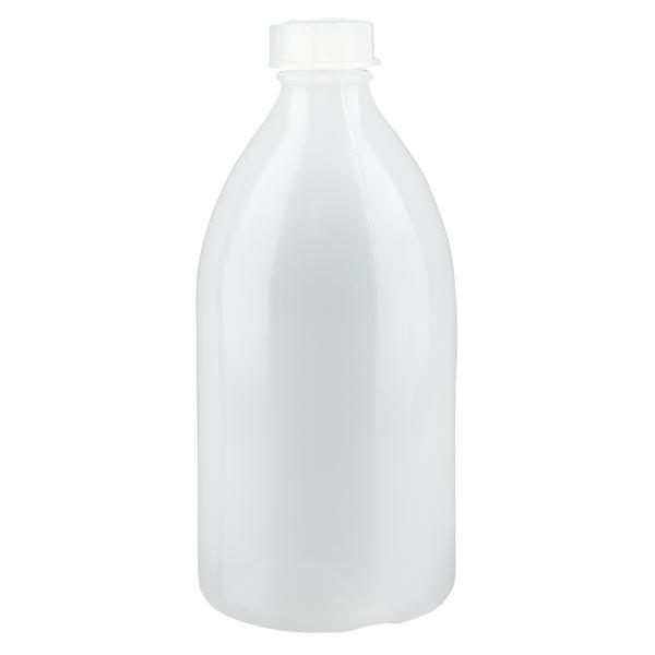 Enghals Laborflasche 500ml mit Schraubverschluss