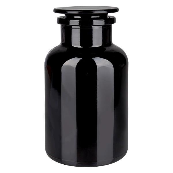 Apothekerflasche 1000 ml Weithals Violettglas inkl. Glasstopfen