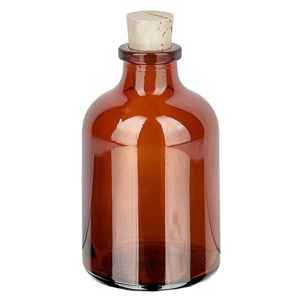Injektionsflasche Braunglas 50ml mit Korken 11/14mm