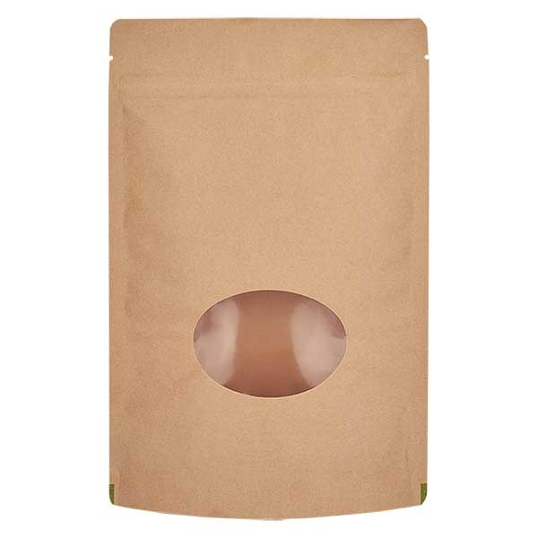 Kraftpapier- Standbodenbeutel Beutel braun (Füllmenge ca. 150g / 130x210mm)