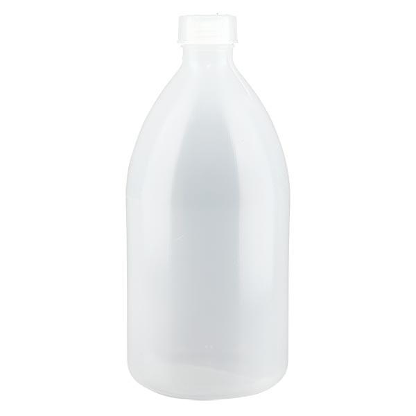 Enghals Laborflasche 1000ml mit Schraubverschluss