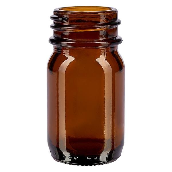 Weithalsflasche 30ml Braunglas mit DIN 32 Mündung ohne Verschluß