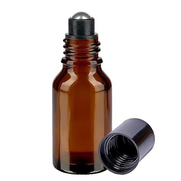 Glas Deostick Flasche braun 15ml, leerer Deo Roller (Roll On)