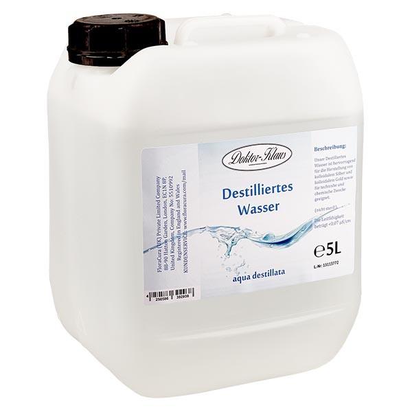 5 Liter destilliertes Wasser / Aqua destillata
