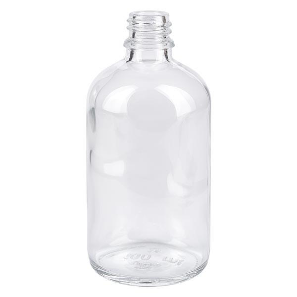 Tropfflasche 100ml ND 18 Klarglas Apothekenglas