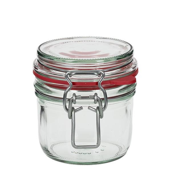 255 ml Drahtbügelglas / Spannbügelglas rund, für Pasteurisation geeignet