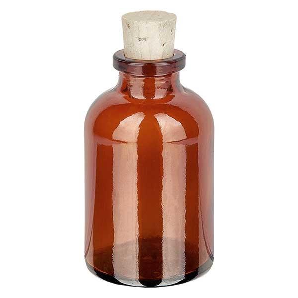 Injektionsflasche Braunglas 30ml mit Korken 11/14mm
