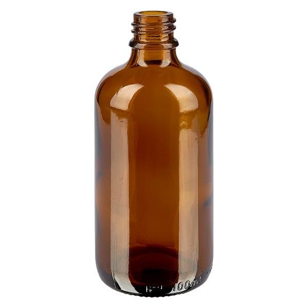Tropfflasche 100ml DIN18 Braunglas Apothekenglas
