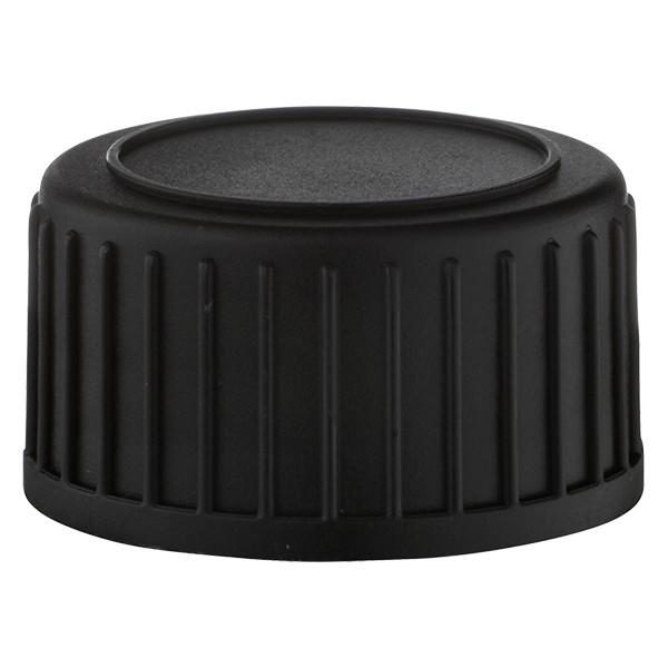 Schraubverschluss DIN 22 Schwarz aus PP mit EPE-Dichtscheibe