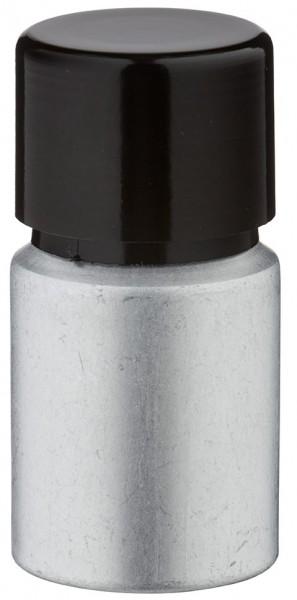 10ml Aluminium-Flasche gebeizt inkl. Schraubkappe schwarz mit Konusdichtung
