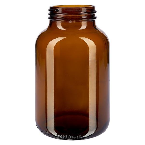 Weithalsflasche 1000ml Braunglas mit DIN 68 Mündung ohne Verschluß