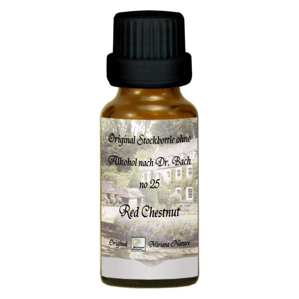25 Red Chestnut, 20ml Essenz (Ohne Alkohol), MirianaNature