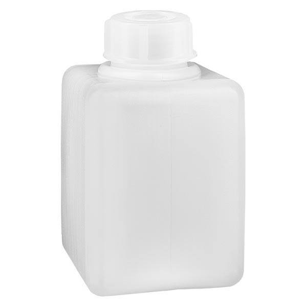 Chemikalienflasche 100ml, Enghals aus PE-HD, naturfarbig, inkl. Verschluss GL 25