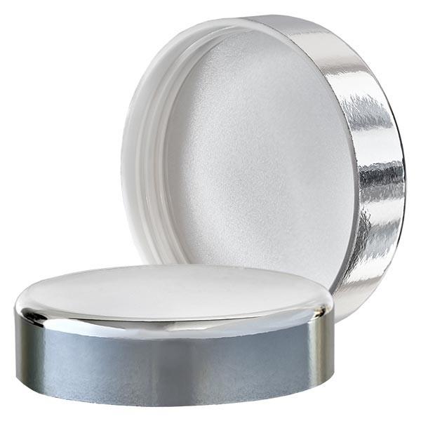 Schraubverschluß silber für Blauglastiegel 50ml