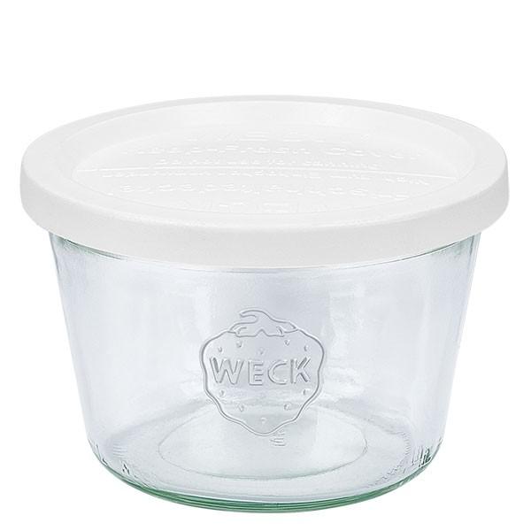 WECK 370ml Sturzglas (1/4 Liter) mit Frischhalte Deckel
