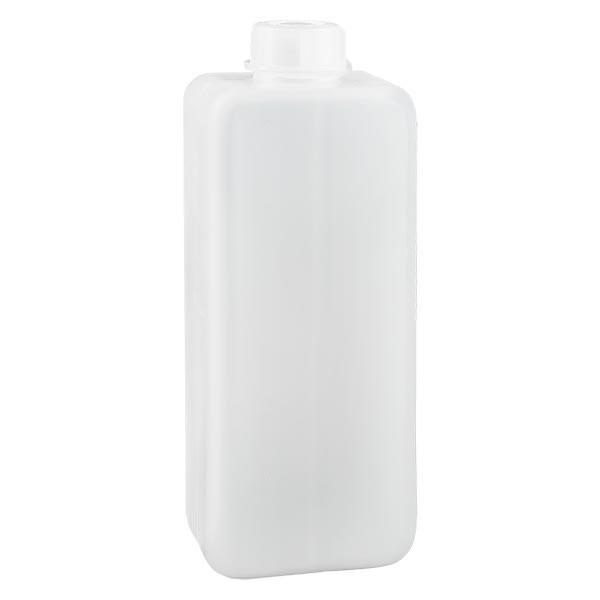 Chemikalienflasche 1000ml, Enghals aus PE-HD, naturfarbig, inkl. Verschluss GL 32