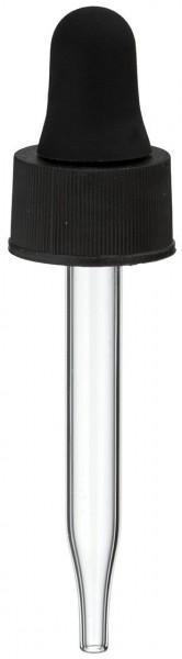 UNiTWIST Glas-Tropfpipette schwarz 13mm PL48