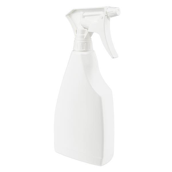 Sprayflasche flache Form PP, 500ml inklusive Handsprayer
