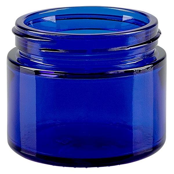 Glastiegel 50ml royalblau, ohne Deckel Gew. 52mm