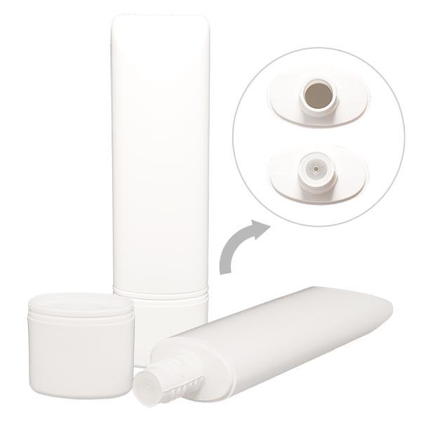 Standtube 50ml weiss HD/LDPE incl Standverschluss