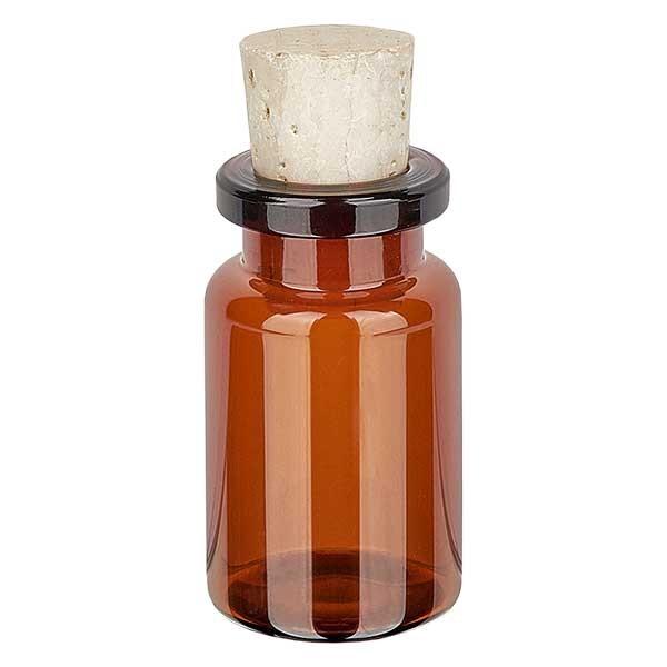 Injektionsflasche Braunglas 5ml mit Korken 11/14mm