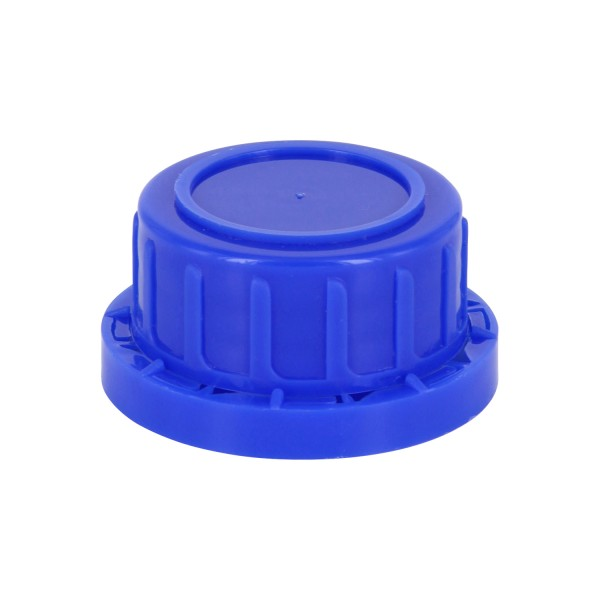 Schraubverschluss OV DIN 32 blau mit Konusdichtung, passend für Weithalsflaschen 100ml (Art Nr 10000