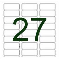 27 Etiketten, weiß, wieder ablösbar 63x30mm