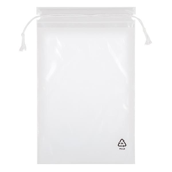 100 LDPE-Beutel mit Kordelzug, 300 x 440 (470 Kordel)