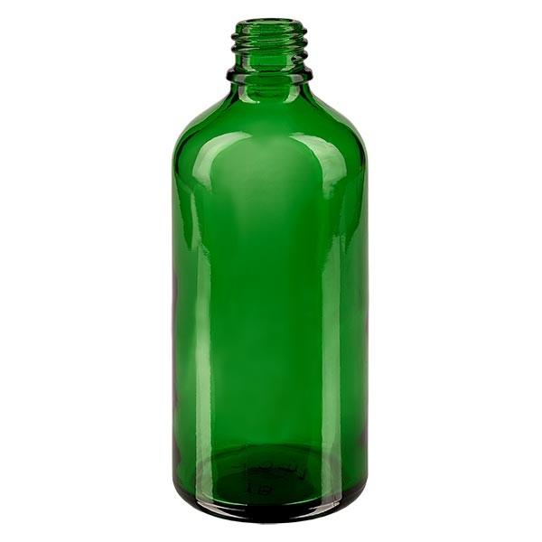 Tropfflasche 100ml ND 18 Grünglas Apothekenglas