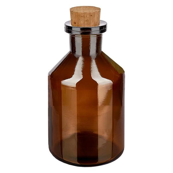 50 ml Steilbrustflasche Enghals Braunglas inkl. Korken