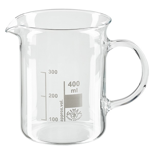 Becherglas / Messbecher 400ml mit Henkel