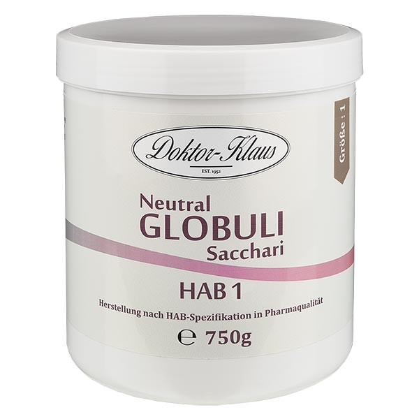 750g Neutral Globuli HAB1 aus 100% reiner Saccharose