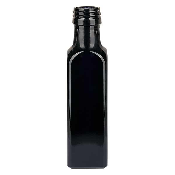 Ölflasche Violettglas 250ml eckig, UNI 31.5x24