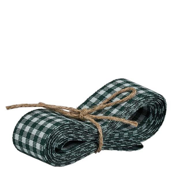 Stoffband grün/weiß 25mm breit - 3m lang - zum Dekorieren von Gläsern