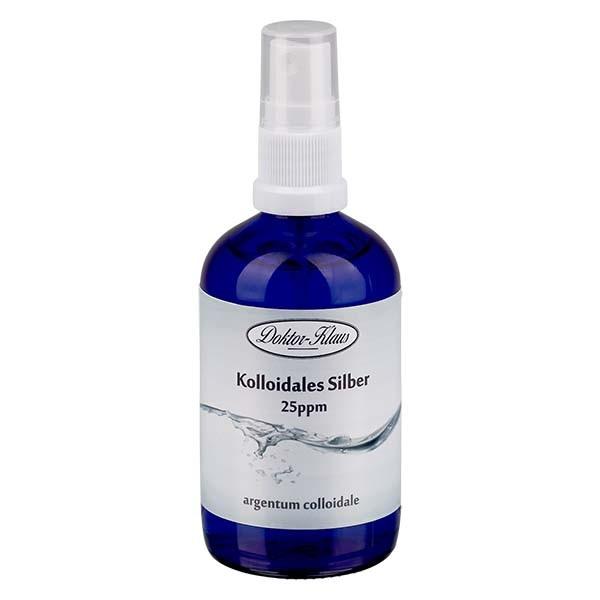 100 ml Kolloidales Silber Doktor-Klaus, 25ppm, Blauglasflasche mit Sprayaufsatz
