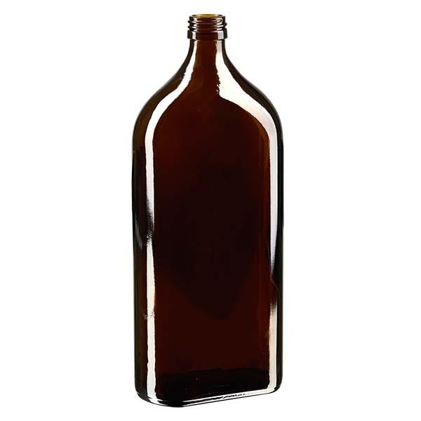 1.000 ml braune Meplatflasche mit PP 28 Mündung