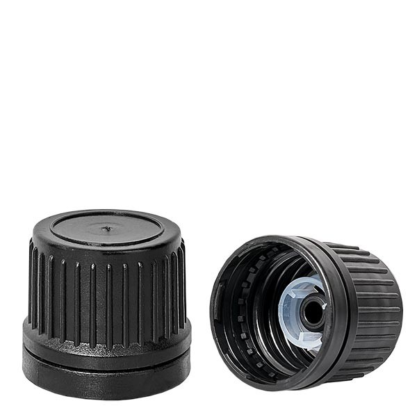 Schraubverschluss mit Giessring schwarz 18mm Premium OV