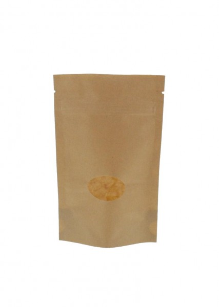 Kraftpapier- Standbodenbeutel Beutel braun (Füllmenge ca. 70g / 110x170mm)