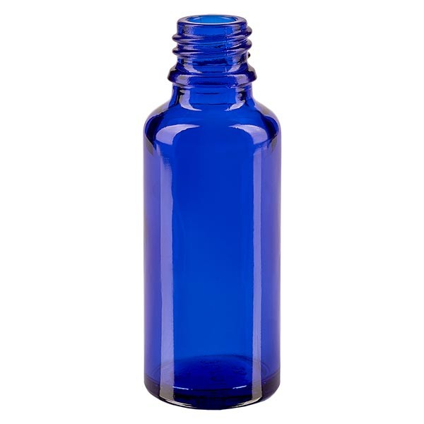 Tropfflasche 30ml ND 18 Blauglas Apothekenglas