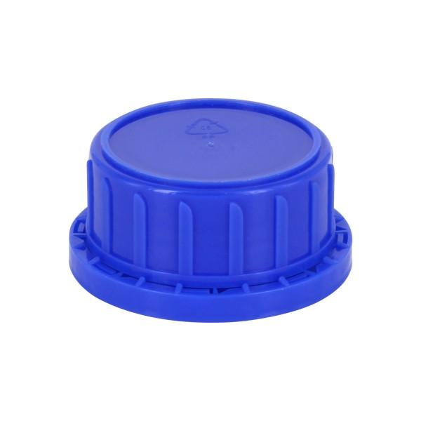 Schraubverschluss OV DIN 45 blau mit Konusdichtung, passend für Weithalsflaschen 250ml (Art Nr 10000