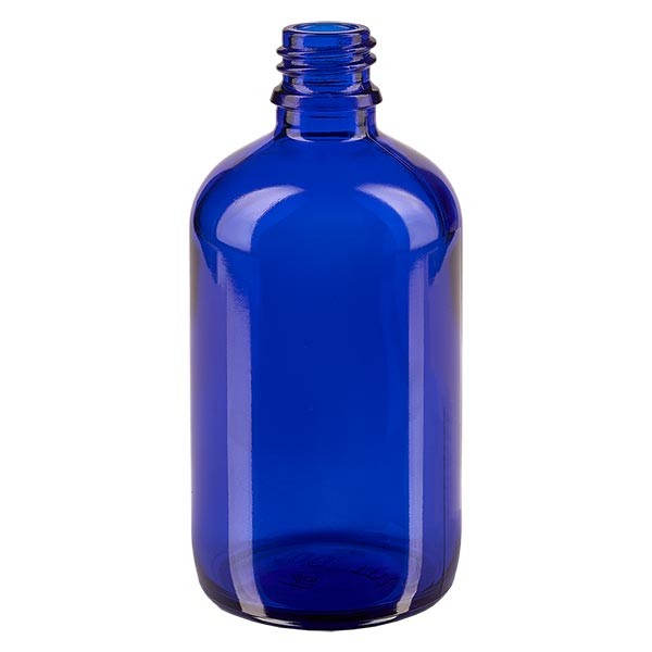 Tropfflasche 100ml ND 18 Blauglas Apothekenglas