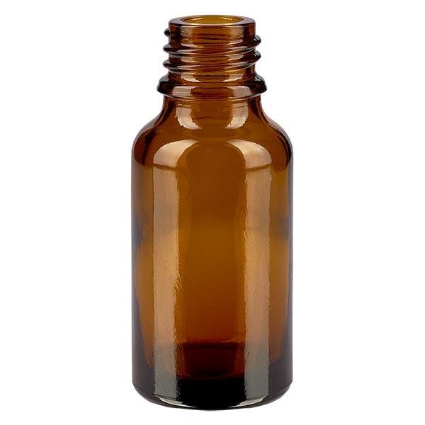 Tropfflasche 30 ml DIN 18 Braunglas NIEDRIGE FORM