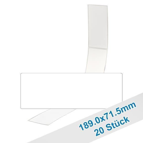 20er Pack Etiketten 71.5x189.0mm zum Beschriften