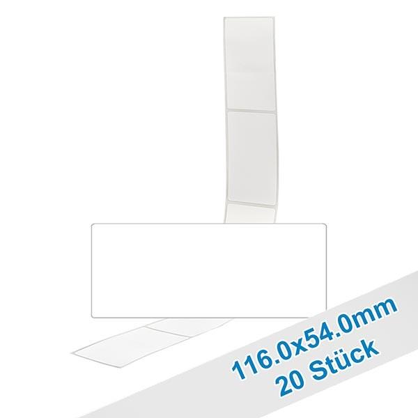 20er Pack Etiketten 54.0x116.0mm zum Beschriften