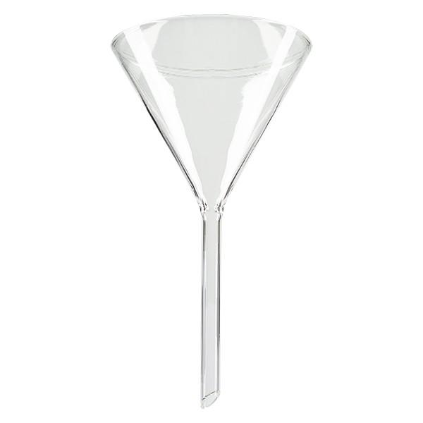 Glastrichter Ø 80mm - Kalk-Soda-Glas - 60° Winkel